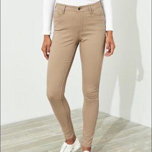 hollister khaki skinny jeans